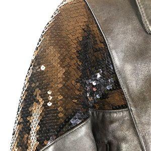 Luis Alvear Jackets & Coats - Luis Alvear Leather Jacket With Sequins
